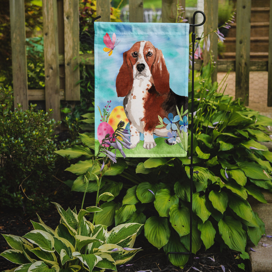 Buy this Easter Eggs Basset Hound Flag Garden Size CK1927GF