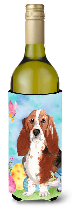Buy this Easter Eggs Basset Hound Wine Bottle Beverge Insulator Hugger CK1927LITERK