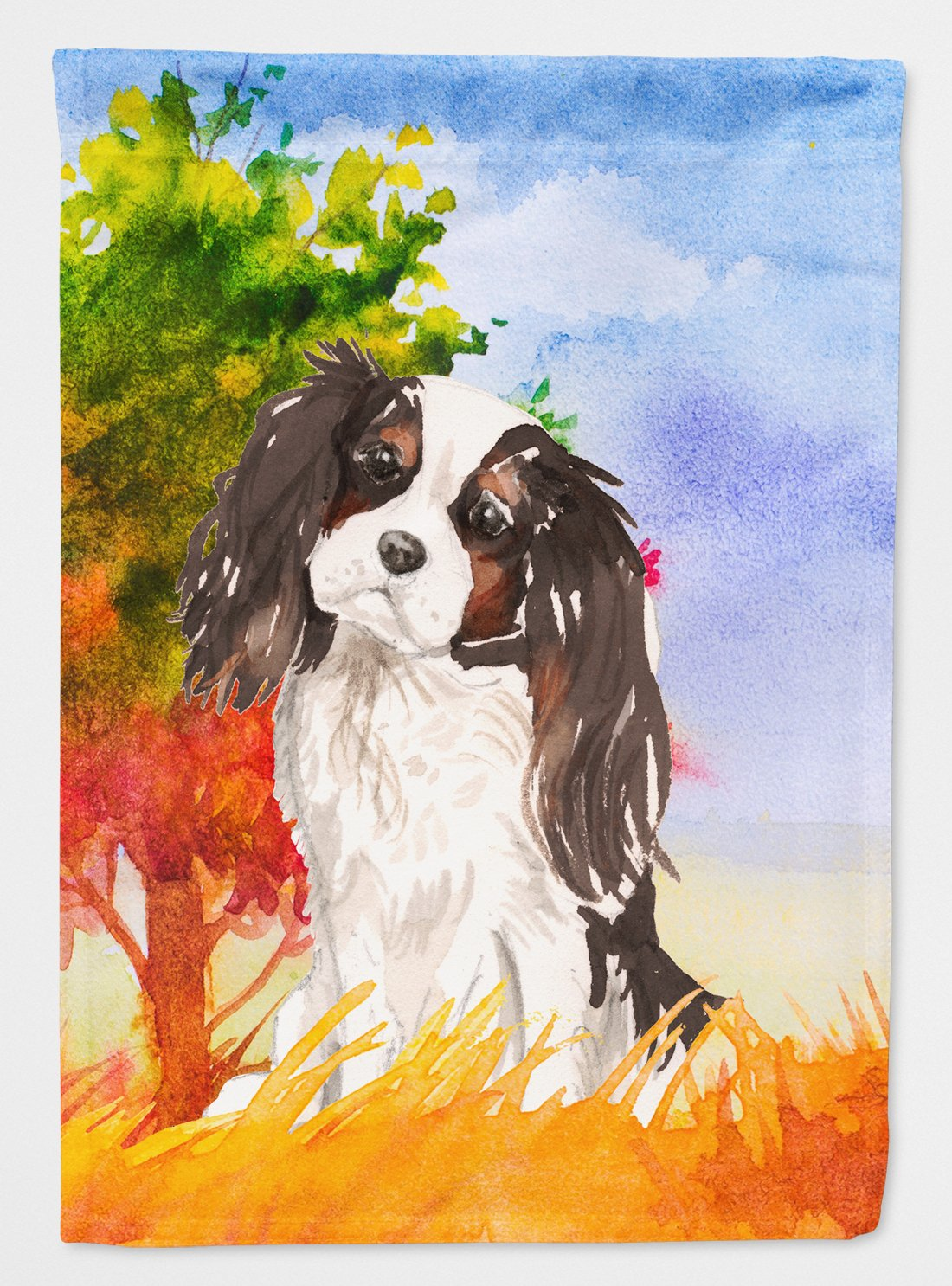 Fall Tricolor Cavalier Spaniel Flag Garden Size CK1931GF by Caroline's Treasures