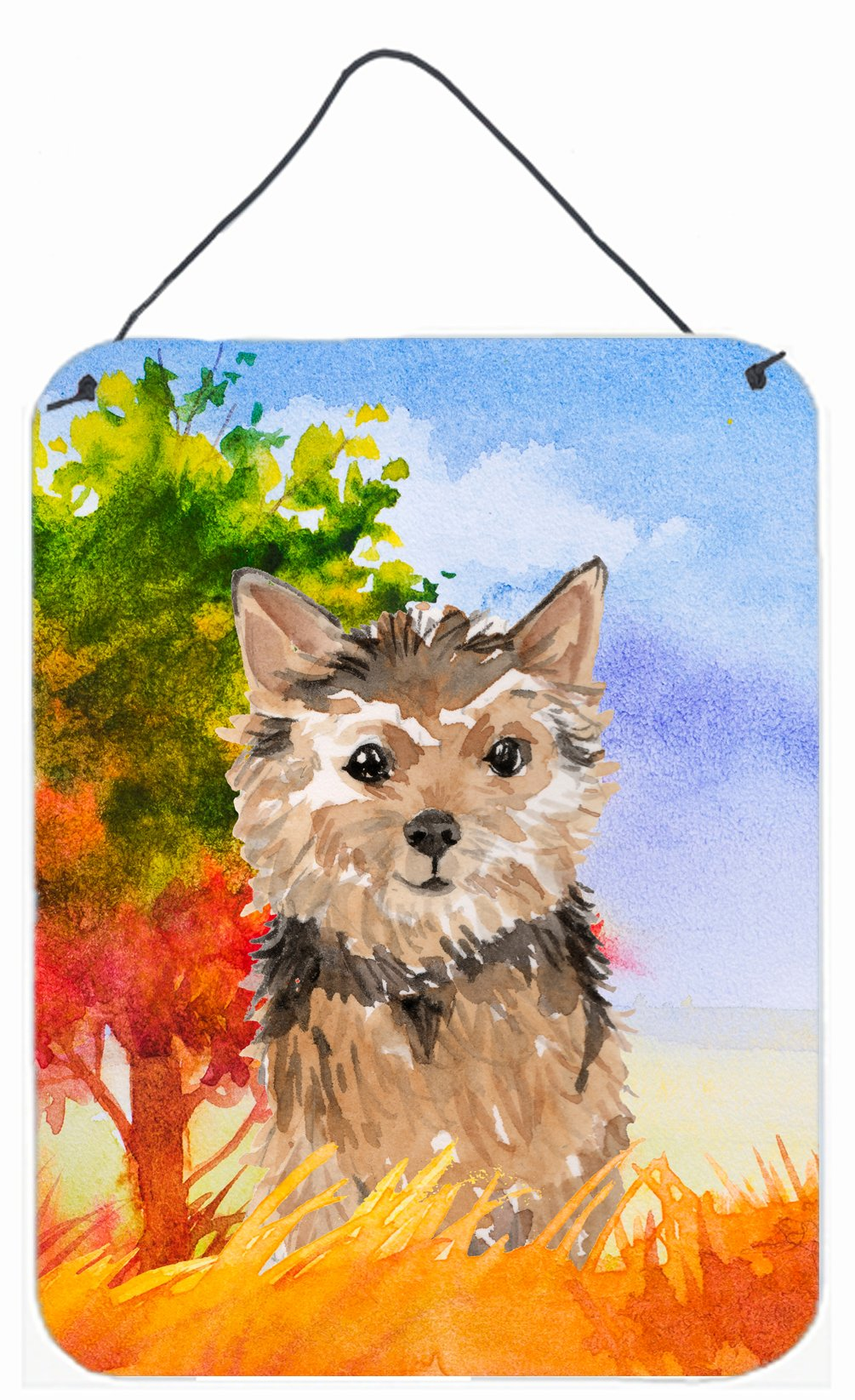 Buy this Fall Norwich Terrier Wall or Door Hanging Prints CK1936DS1216