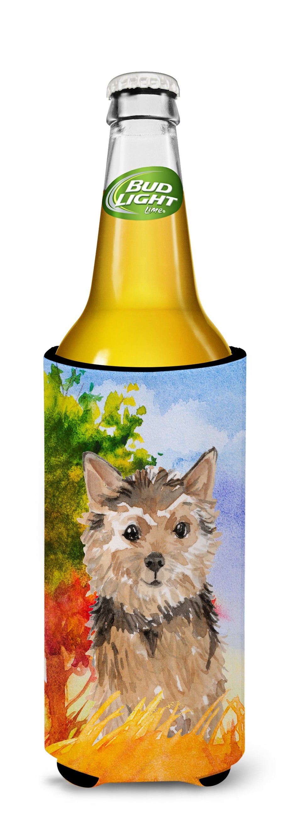 Buy this Fall Norwich Terrier Michelob Ultra Hugger for slim cans CK1936MUK