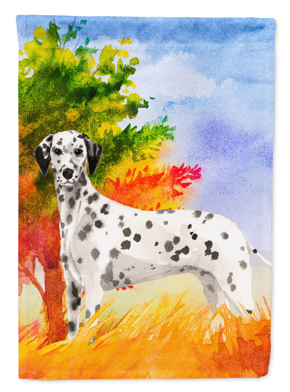 Fall Dalmatian Flag Canvas House Size CK1945CHF by Caroline's Treasures
