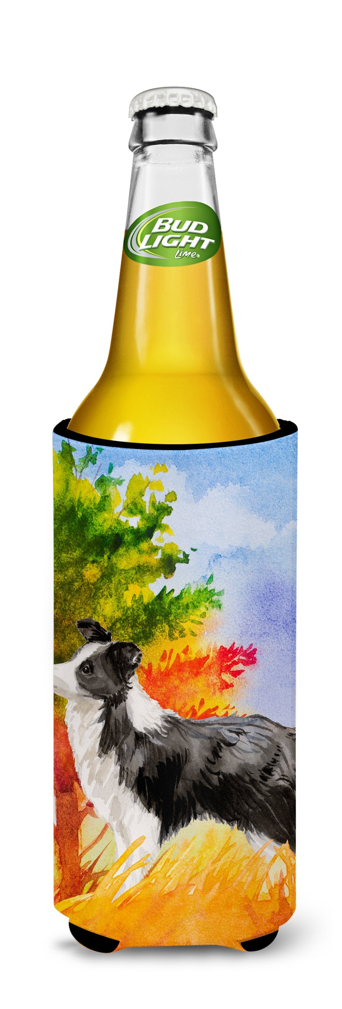 Fall Border Collie Michelob Ultra Hugger for slim cans CK1955MUK by Caroline's Treasures