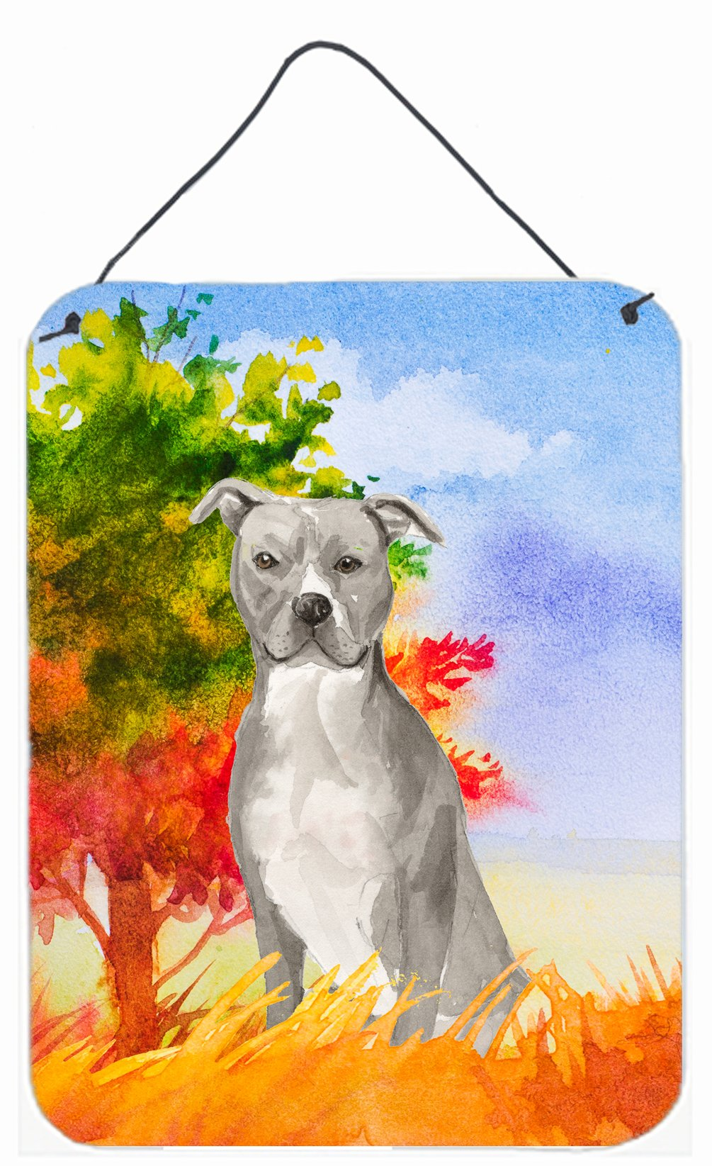 Buy this Fall Staffordshire Bull Terrier Wall or Door Hanging Prints CK1962DS1216