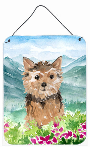 Buy this Mountian Flowers Norwich Terrier Wall or Door Hanging Prints CK1971DS1216