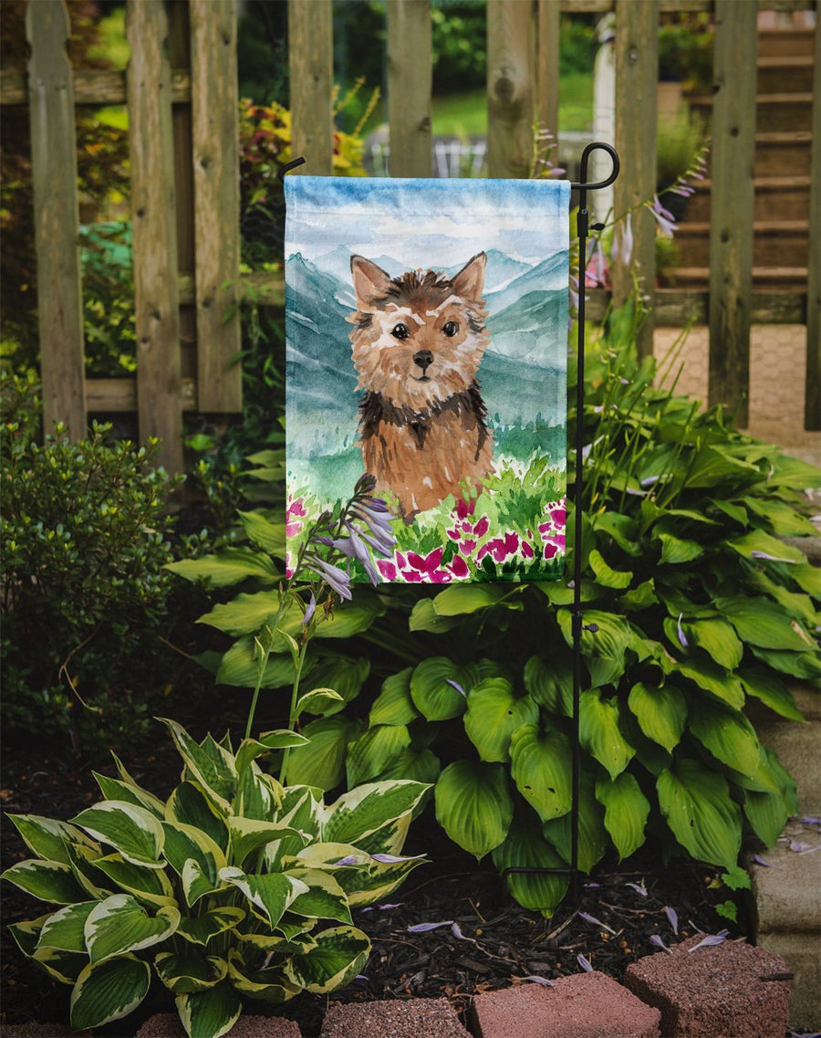 Buy this Mountian Flowers Norwich Terrier Flag Garden Size CK1971GF
