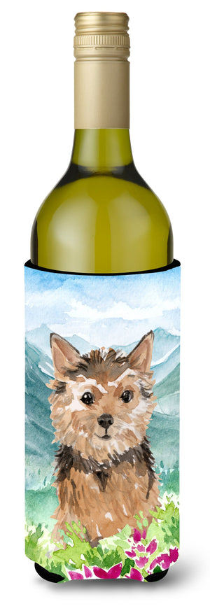 Buy this Mountian Flowers Norwich Terrier Wine Bottle Beverage Insulator Hugger CK1971LITERK