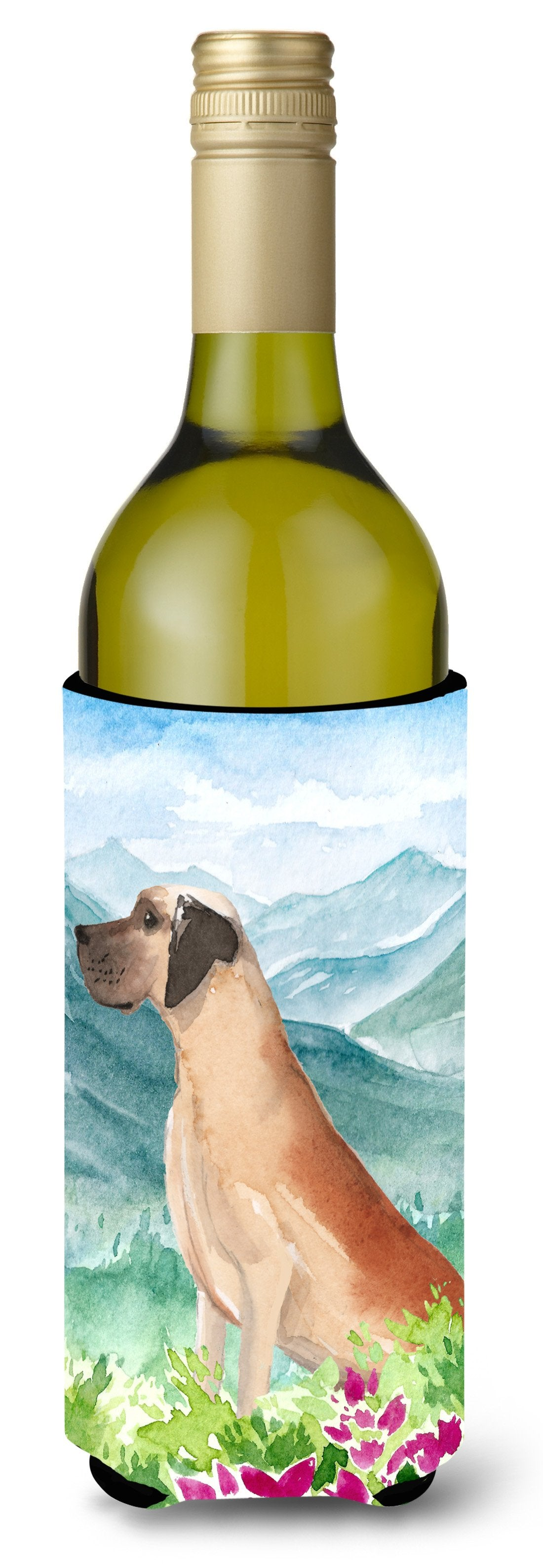 Buy this Mountian Flowers Great Dane Wine Bottle Beverage Insulator Hugger CK1976LITERK