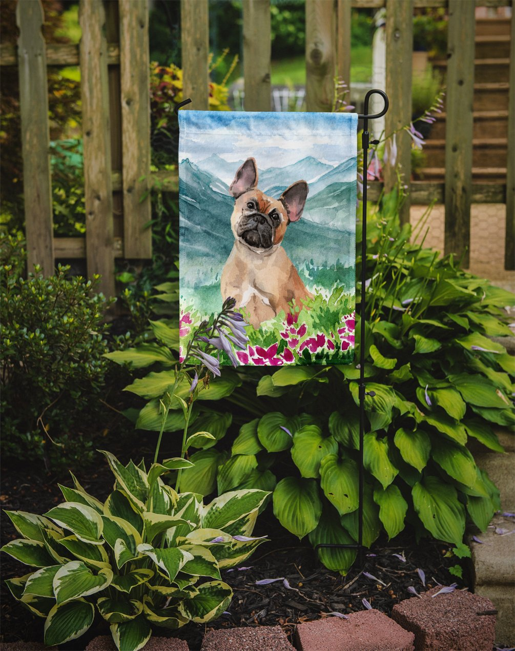 Mountian Flowers Fawn French Bulldog Flag Garden Size CK1978GF by Caroline's Treasures