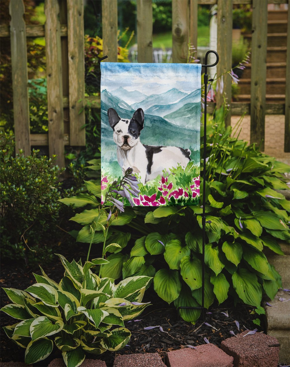 Mountian Flowers French Bulldog Flag Garden Size CK1991GF by Caroline's Treasures
