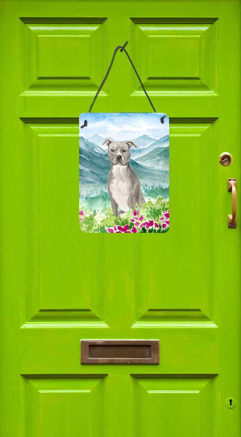 Buy this Mountian Flowers Staffordshire Bull Terrier Wall or Door Hanging Prints CK1997DS1216