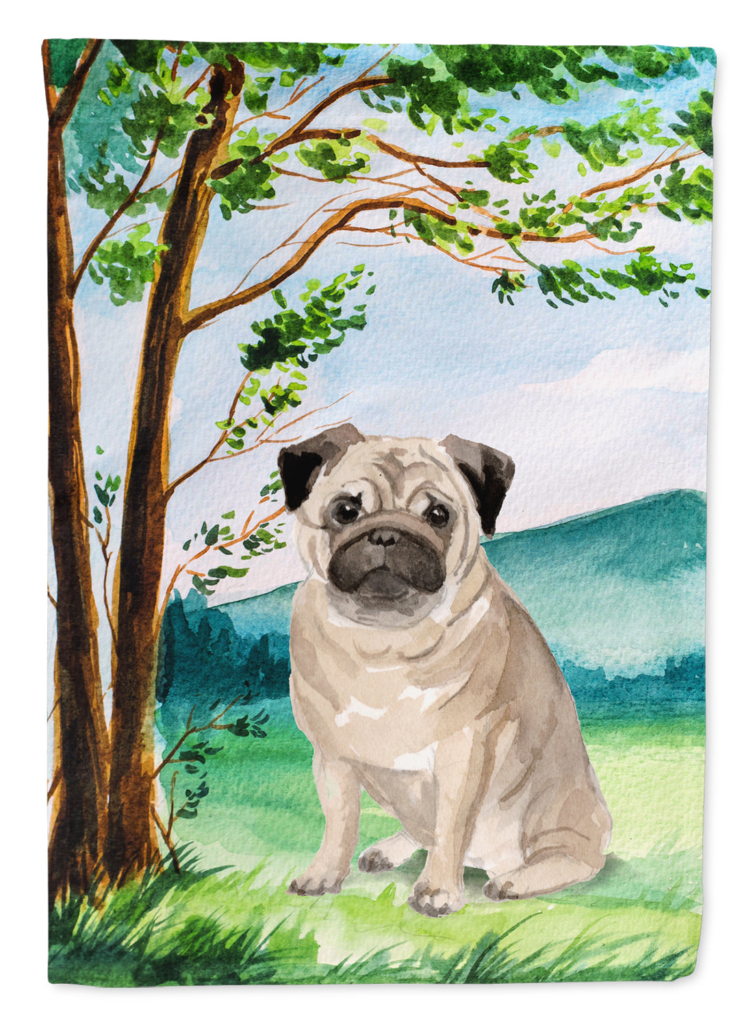 Buy this Under the Tree Fawn Pug Flag Garden Size CK2004GF