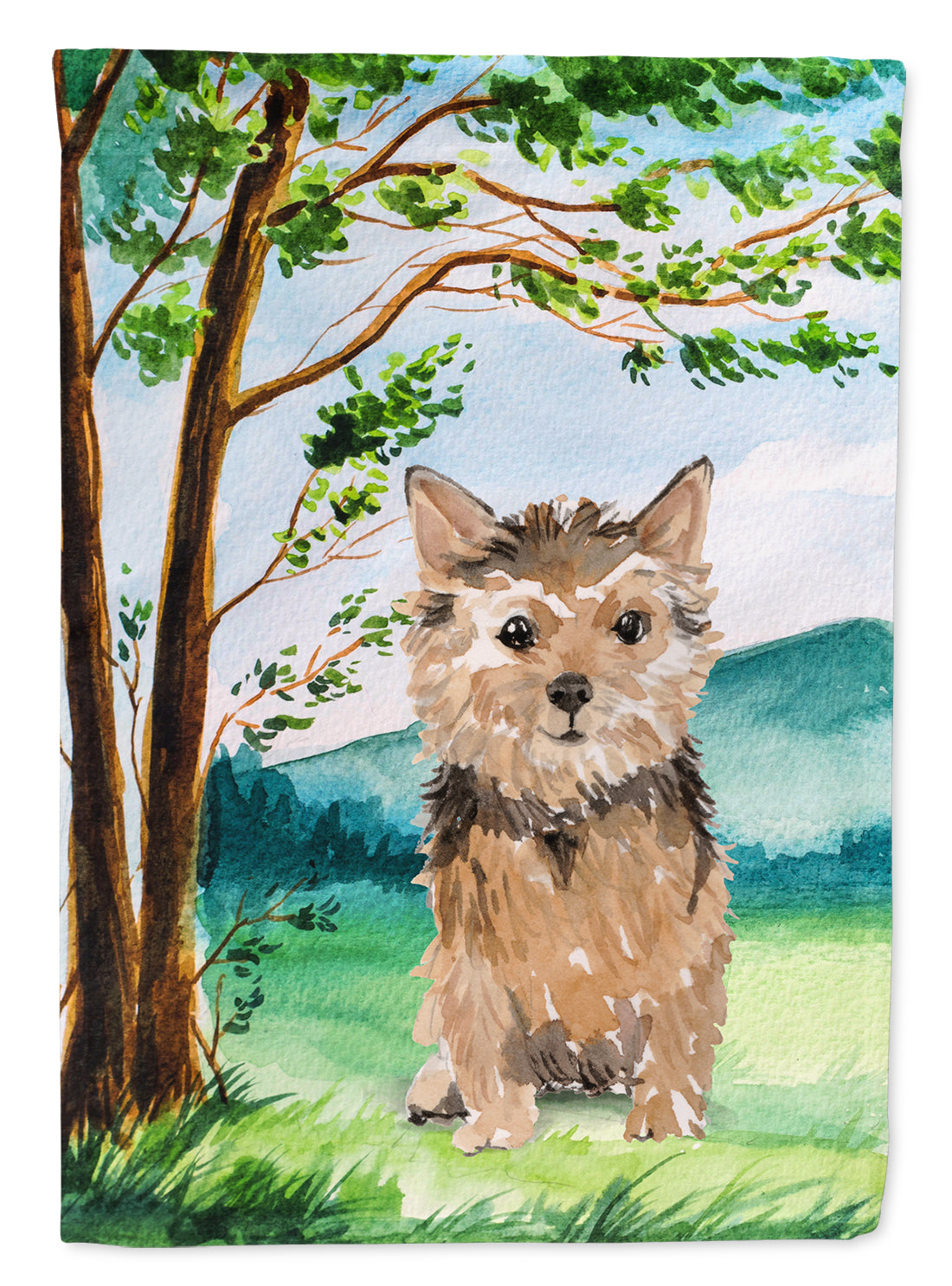 Buy this Under the Tree Norwich Terrier Flag Canvas House Size CK2006CHF