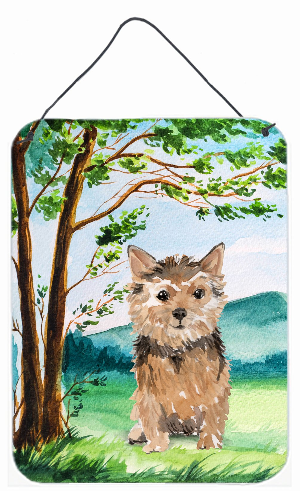 Buy this Under the Tree Norwich Terrier Wall or Door Hanging Prints CK2006DS1216