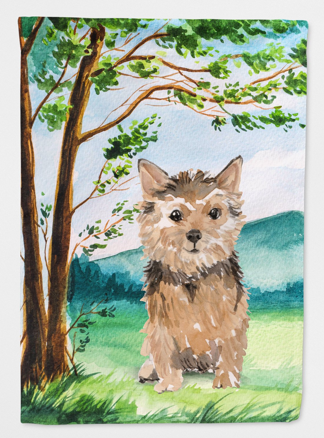 Buy this Under the Tree Norwich Terrier Flag Garden Size CK2006GF