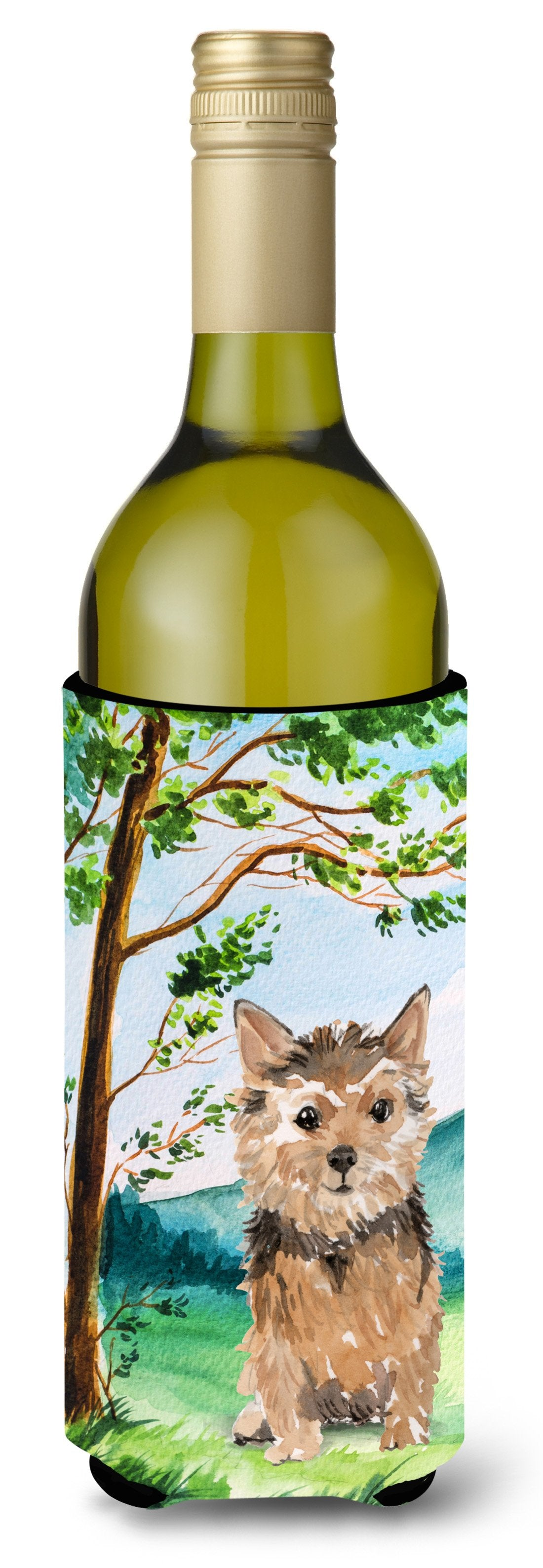 Buy this Under the Tree Norwich Terrier Wine Bottle Beverage Insulator Hugger CK2006LITERK