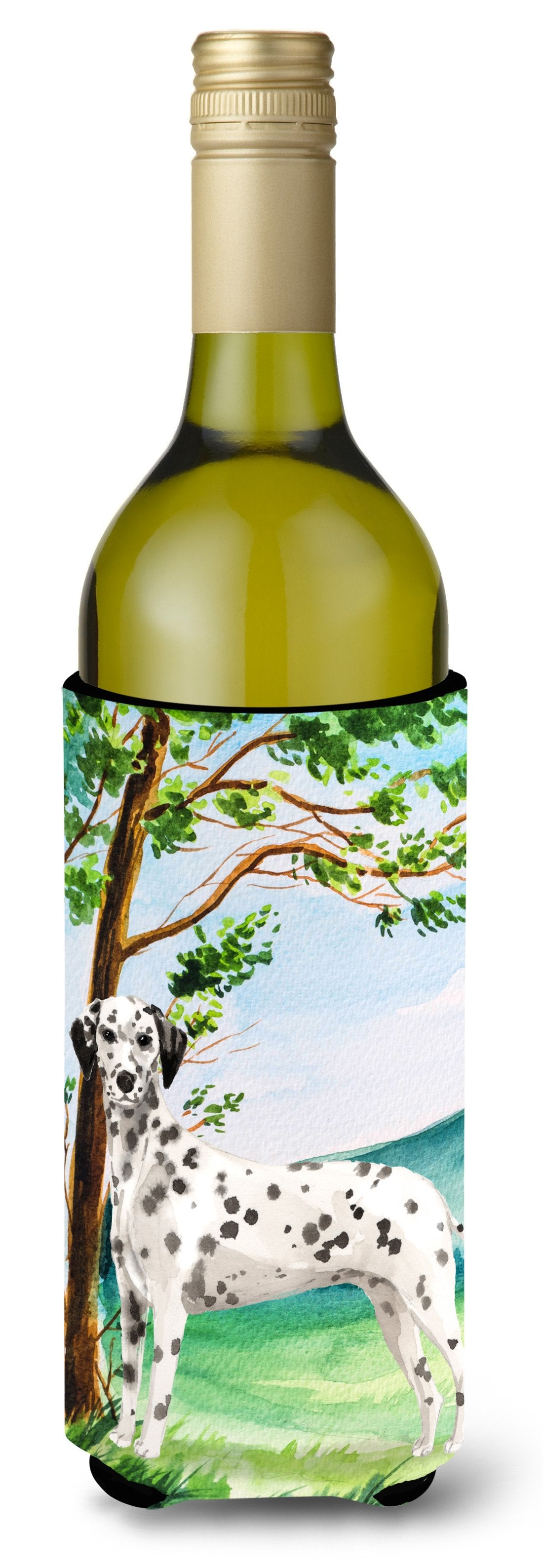 Under the Tree Dalmatian Wine Bottle Beverage Insulator Hugger CK2015LITERK by Caroline's Treasures