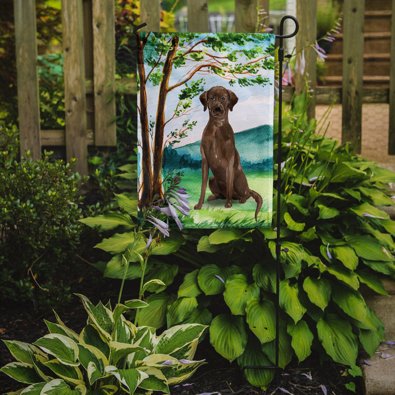 Buy this Under the Tree Chocolate Labrador Flag Garden Size CK2021GF
