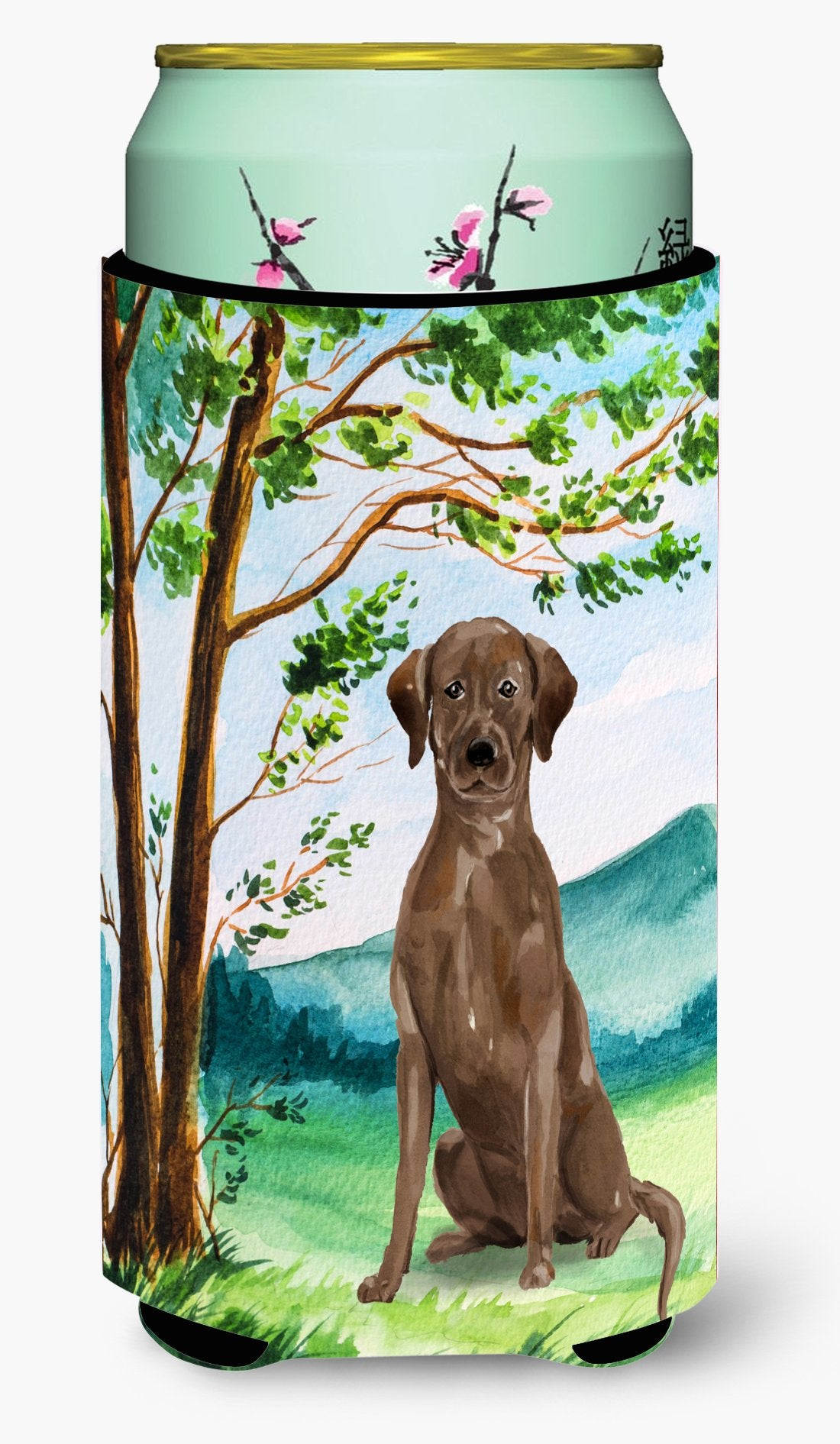 Under the Tree Chocolate Labrador Tall Boy Beverage Insulator Hugger CK2021TBC by Caroline's Treasures