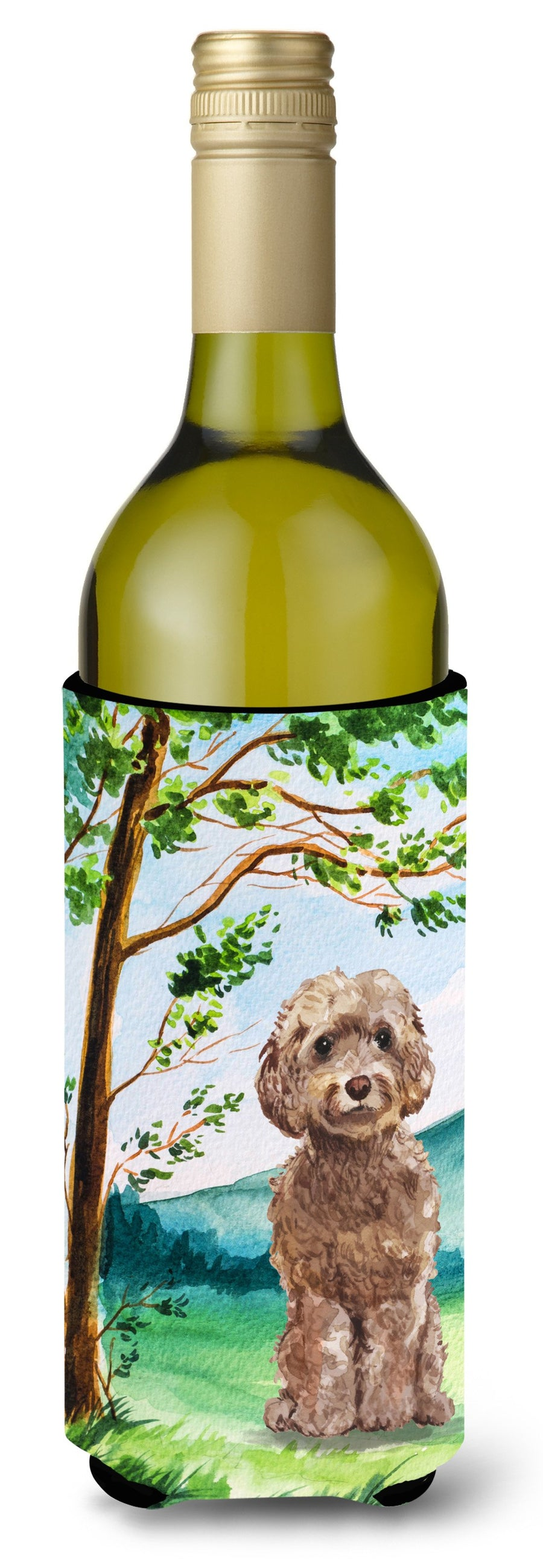Buy this Under the Tree Labradoodle Wine Bottle Beverage Insulator Hugger CK2023LITERK