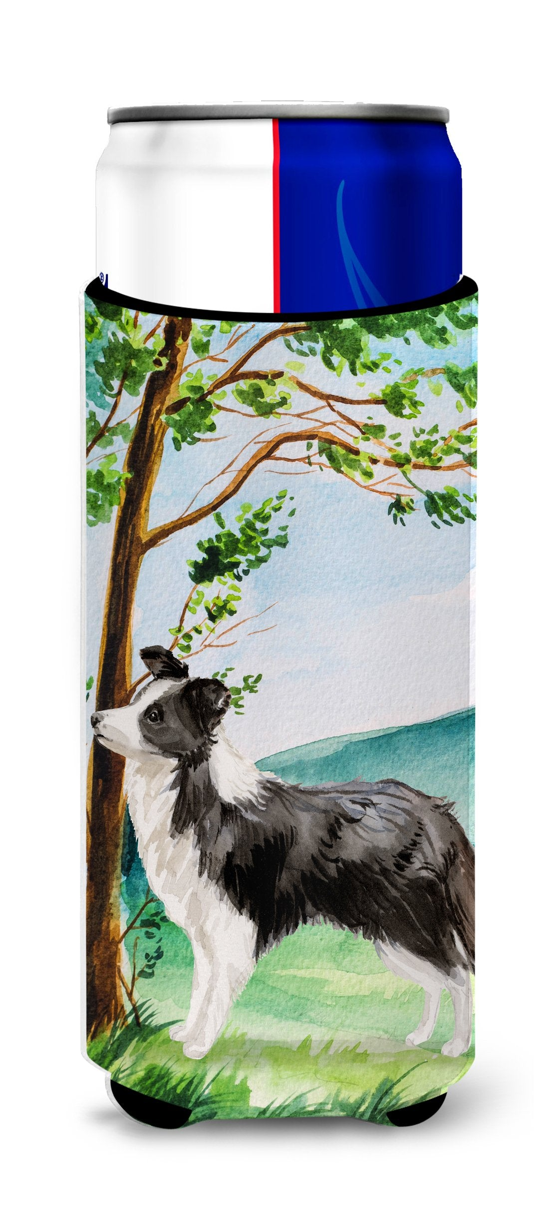 Under the Tree Border Collie Michelob Ultra Hugger for slim cans CK2025MUK by Caroline's Treasures