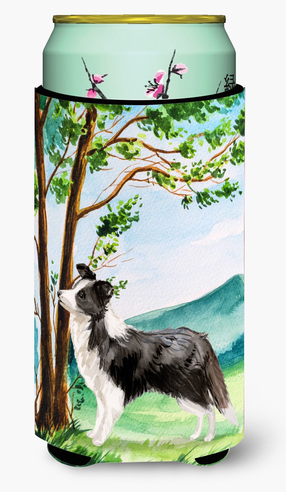 Under the Tree Border Collie Tall Boy Beverage Insulator Hugger CK2025TBC by Caroline's Treasures