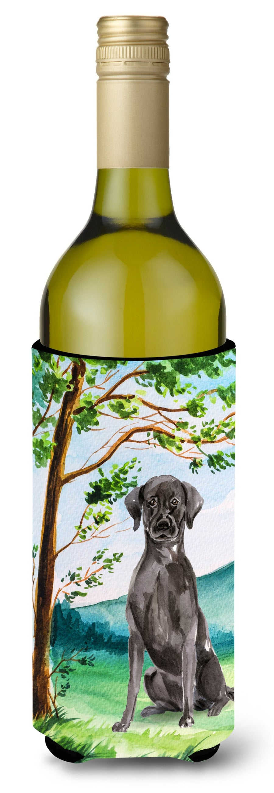 Buy this Under the Tree Black Labrador Wine Bottle Beverage Insulator Hugger CK2027LITERK