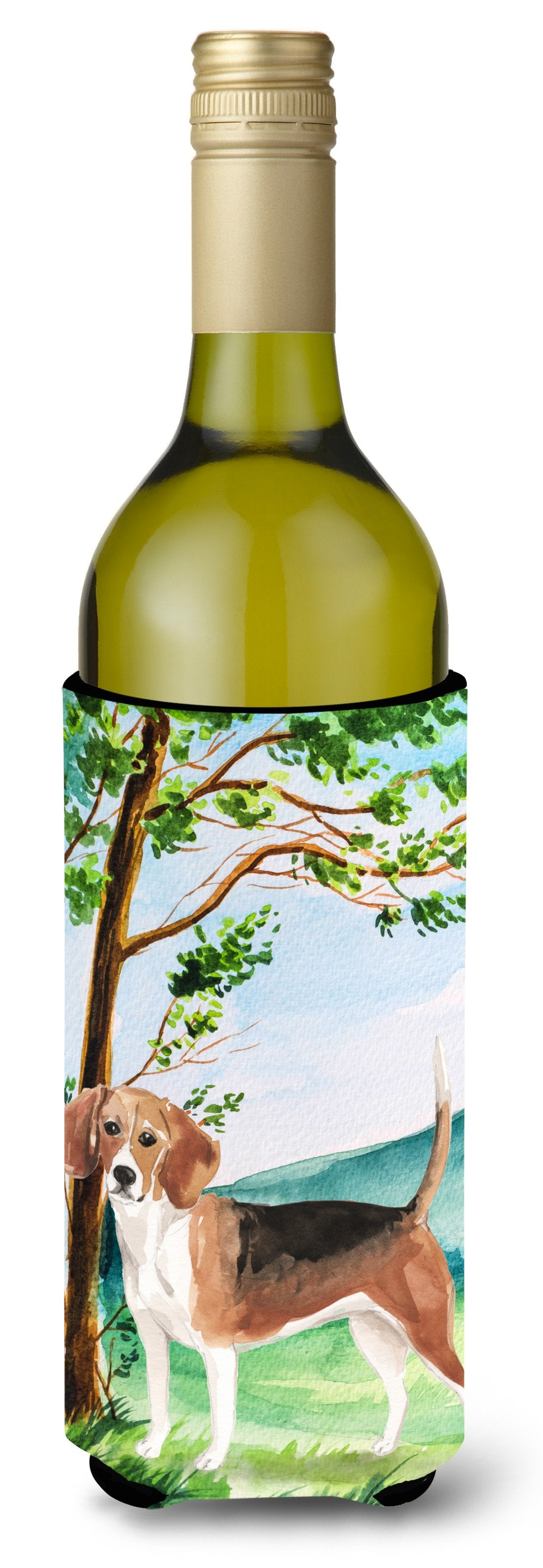 Buy this Under the Tree Beagle Wine Bottle Beverage Insulator Hugger CK2029LITERK