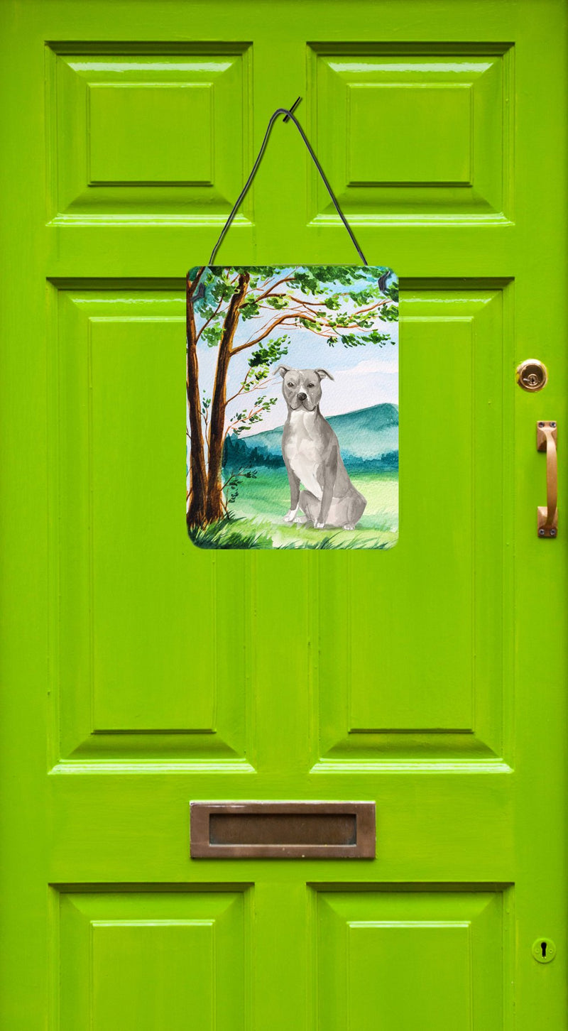 Buy this Under the Tree Staffordshire Bull Terrier Wall or Door Hanging Prints CK2032DS1216