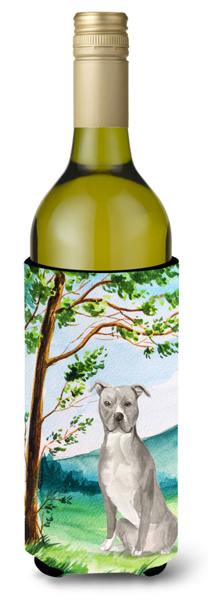 Buy this Under the Tree Staffordshire Bull Terrier Wine Bottle Beverage Insulator Hugger CK2032LITERK