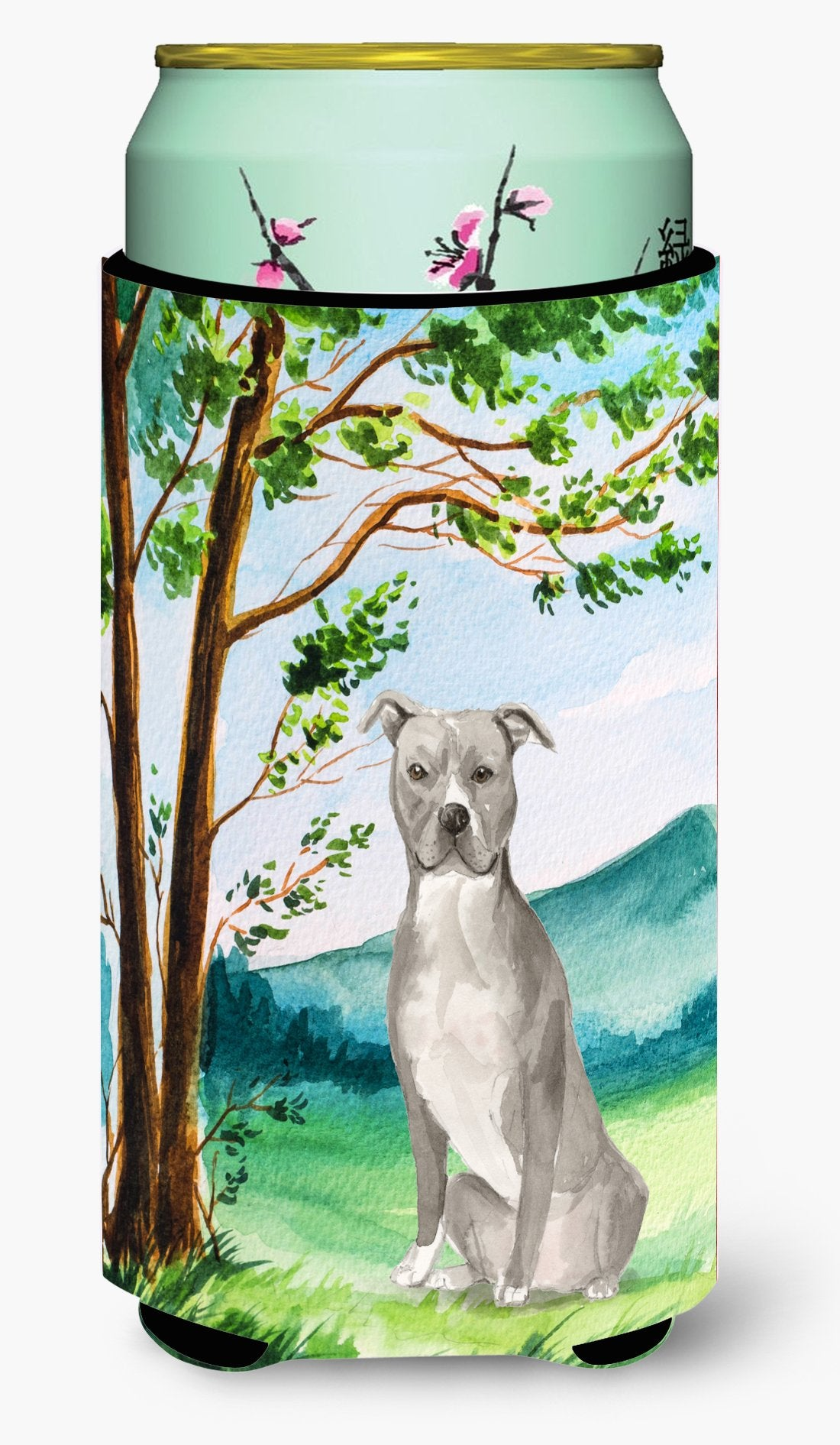 Under the Tree Staffordshire Bull Terrier Tall Boy Beverage Insulator Hugger CK2032TBC by Caroline's Treasures