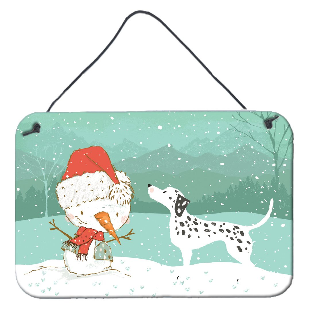Dalmatian and Snowman Christmas Wall or Door Hanging Prints CK2037DS812 by Caroline's Treasures