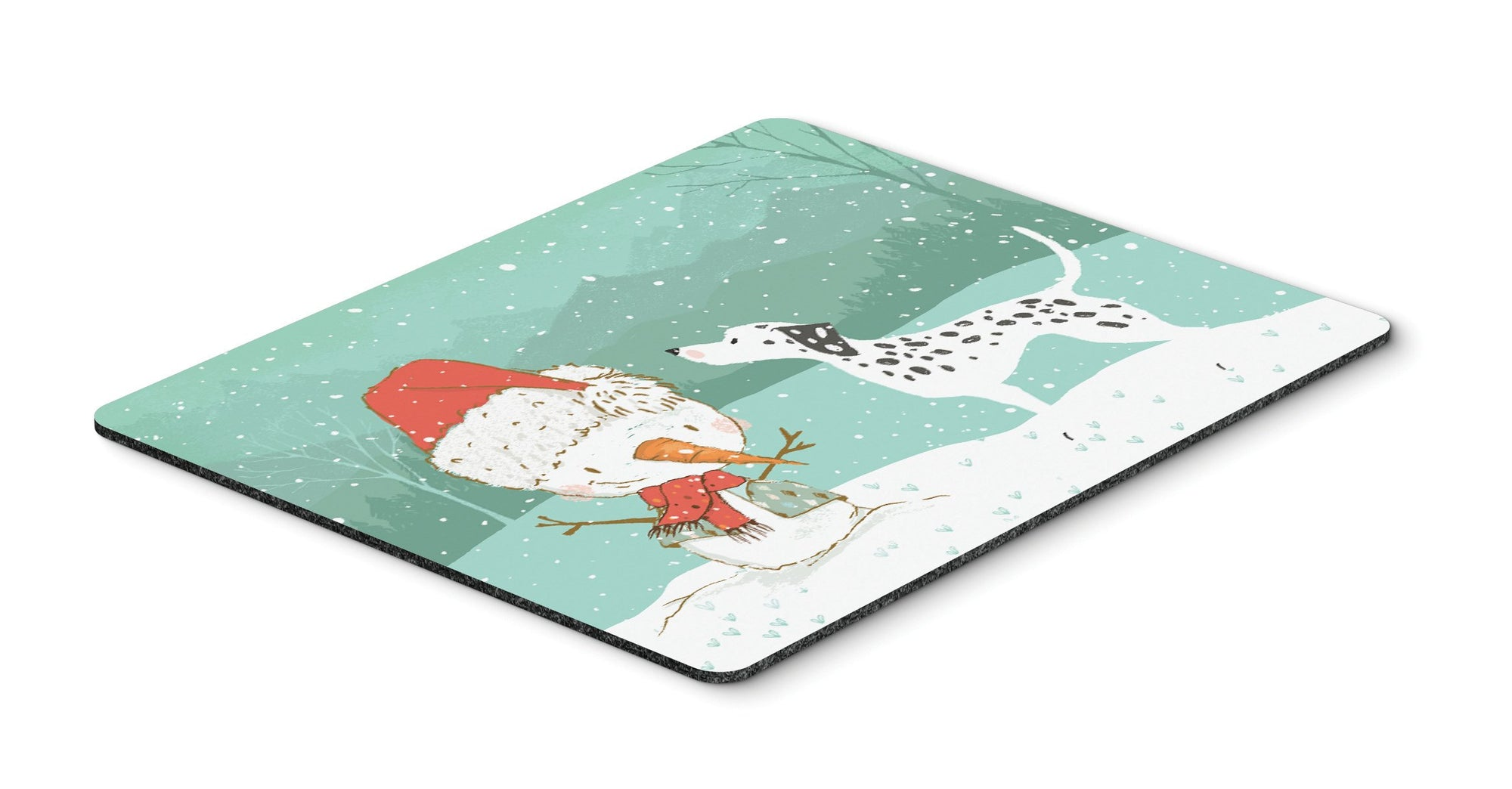 Dalmatian and Snowman Christmas Mouse Pad, Hot Pad or Trivet CK2037MP by Caroline's Treasures