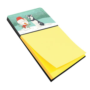 Buy this Siberian Husky Snowman Christmas Sticky Note Holder CK2046SN