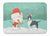 Buy this Black Bull Terrier Snowman Christmas Machine Washable Memory Foam Mat CK2055RUG