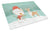 Buy this Fawn Bull Terrier Snowman Christmas Glass Cutting Board Large CK2056LCB