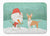 Buy this Fawn Bull Terrier Snowman Christmas Machine Washable Memory Foam Mat CK2056RUG