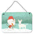 Buy this White Bull Terrier Snowman Christmas Wall or Door Hanging Prints CK2058DS812