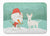 Buy this White Bull Terrier Snowman Christmas Machine Washable Memory Foam Mat CK2058RUG