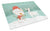 Buy this White Spot Bull Terrier Snowman Christmas Glass Cutting Board Large CK2059LCB