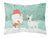 Buy this White Spot Bull Terrier Snowman Christmas Fabric Standard Pillowcase CK2059PILLOWCASE