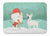 White Spot Bull Terrier Snowman Christmas Machine Washable Memory Foam Mat CK2059RUG by Caroline's Treasures