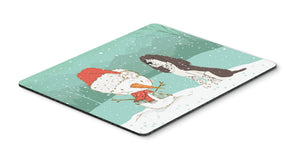 Buy this Brown English Springer Spaniel Snowman Christmas Mouse Pad, Hot Pad or Trivet CK2074MP