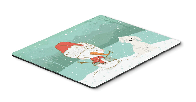Maltese Snowman Christmas Mouse Pad, Hot Pad or Trivet CK2094MP by Caroline's Treasures