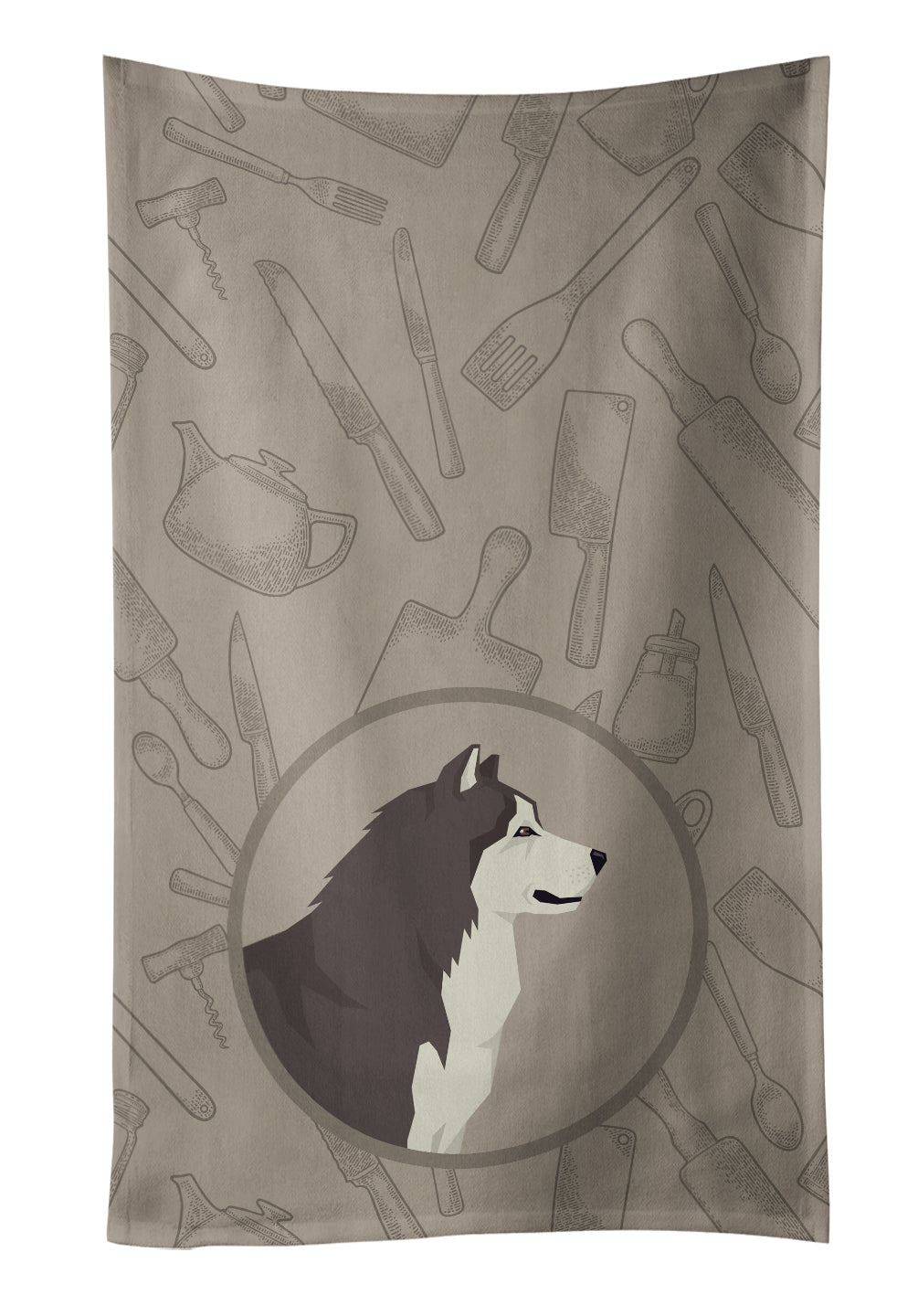 Buy this Alaskan Malamute In the Kitchen Kitchen Towel CK2160KTWL