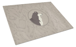 Buy this Alaskan Malamute In the Kitchen Glass Cutting Board Large CK2160LCB