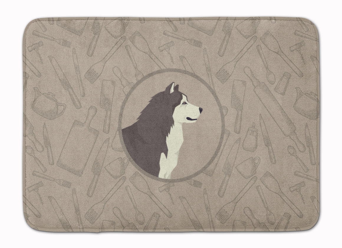 Buy this Alaskan Malamute In the Kitchen Machine Washable Memory Foam Mat CK2160RUG