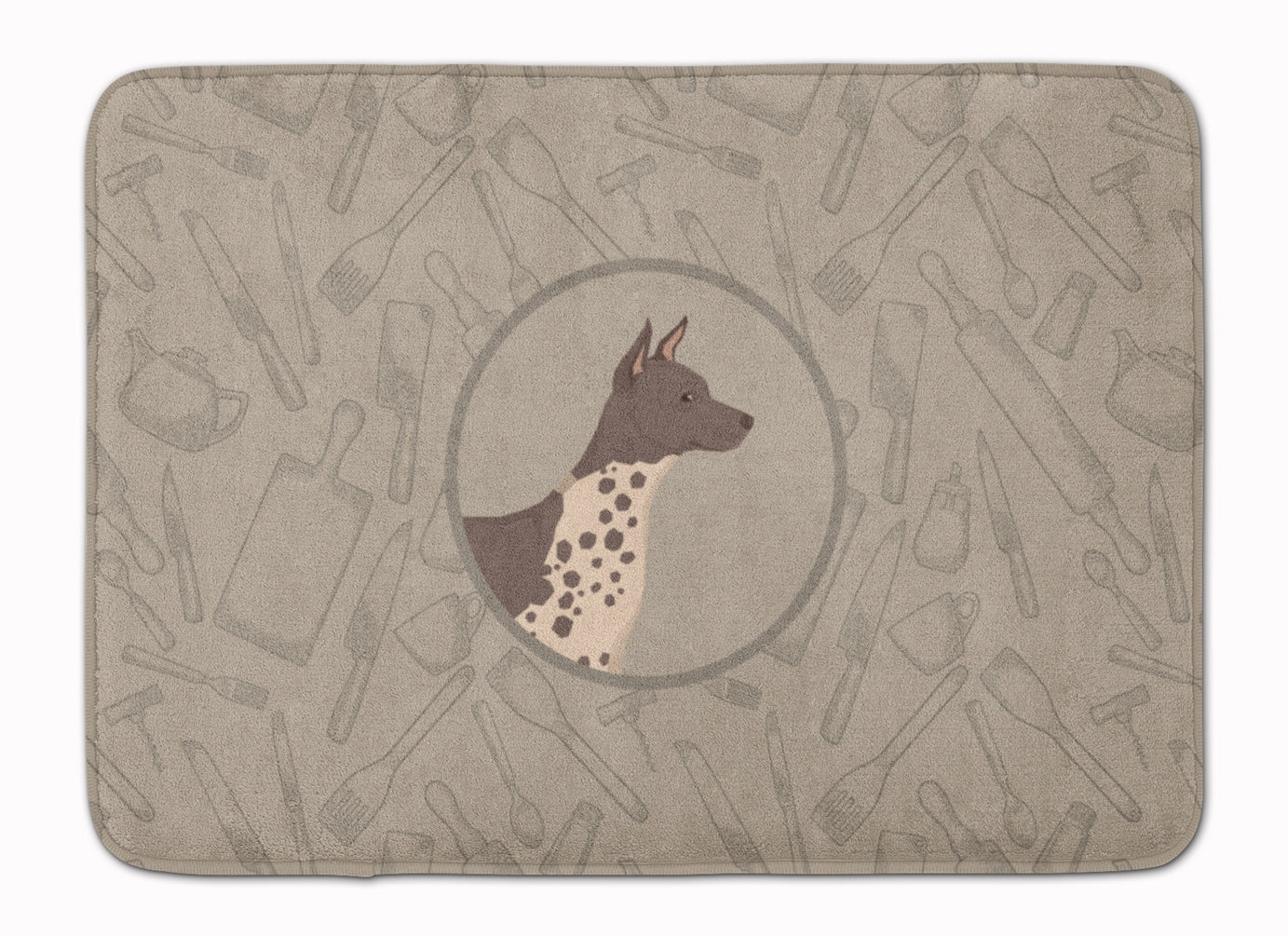 American Hairless Terrier In the Kitchen Machine Washable Memory Foam Mat CK2161RUG by Caroline's Treasures