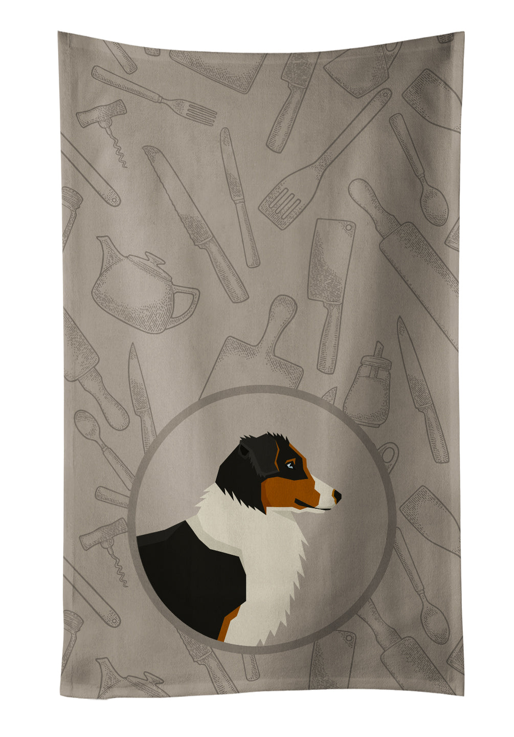 Australian Shepherd In the Kitchen Kitchen Towel CK2163KTWL by Caroline's Treasures