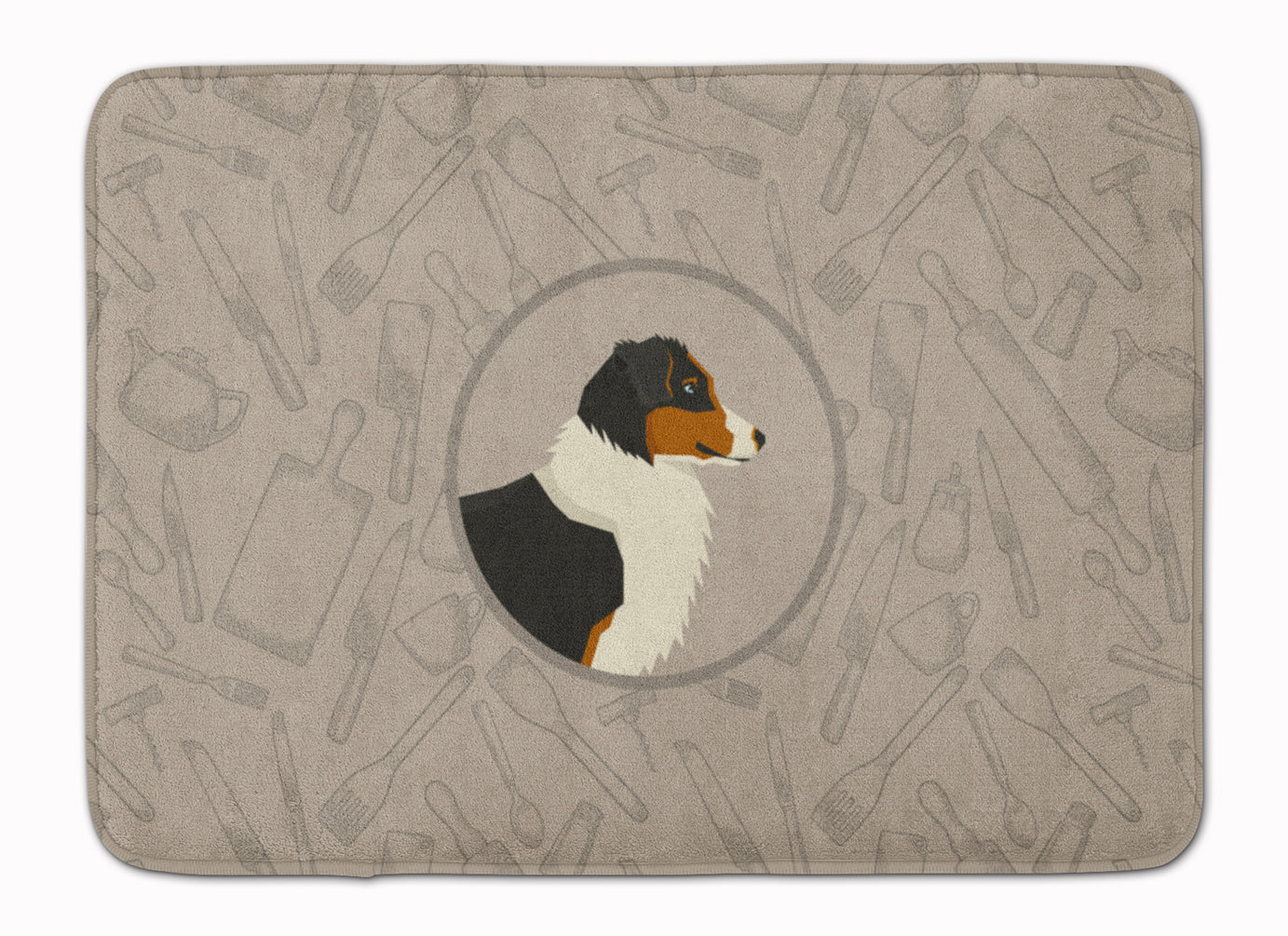 Buy this Australian Shepherd In the Kitchen Machine Washable Memory Foam Mat CK2163RUG